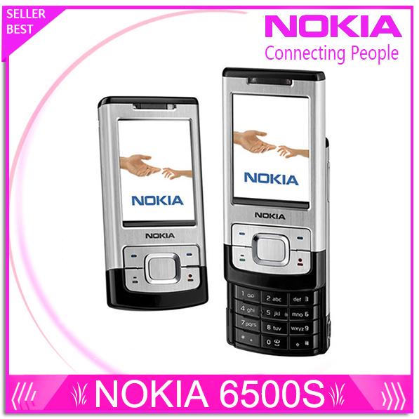 6500 s original reformado nokia 6500 slide teléfonos 3g bluetooth mp3 jugador 3.15mp teléfono celular