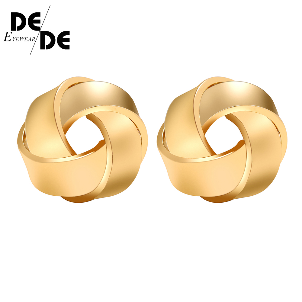 Vintage Punk Metal Geometric Stud Earring for Women Girls Gift 2019 New Gold Color Earrings Jewelry Wholesale Accessories in Stud Earrings from Jewelry Accessories