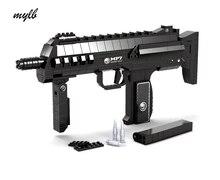 Mylb 508 adet MP7 Makineli Saldırı SILAH Silah SWAT Silah Modeli 1:1 3D DIY Yapı Taşları Tuğla Çocuk Çocuk Oyuncak hediye
