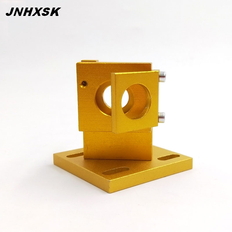 Co2 Laser First Reflection Mirror Mount Support Integrative Holder Yellow Color For Laser Engraving Cutting Machine