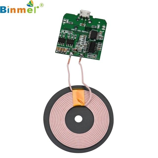 Binmer Universele QI Draadloze Opladen Ontvanger Charger Module Voor Micro USB Mobiele Telefoon LJJ0118 Drop Schip