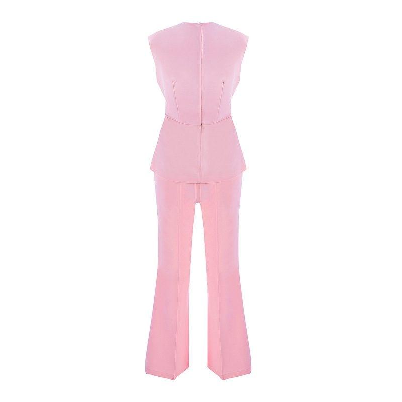 Femmes V Pink Réservoir Tenue Sexy 2 Profond Gosexy Soirée 2019 En Deux Moulante Celebrity Col Ensembles Pièces De Ensemble Fête Robes Mode Clubwear 7qxnFBwE