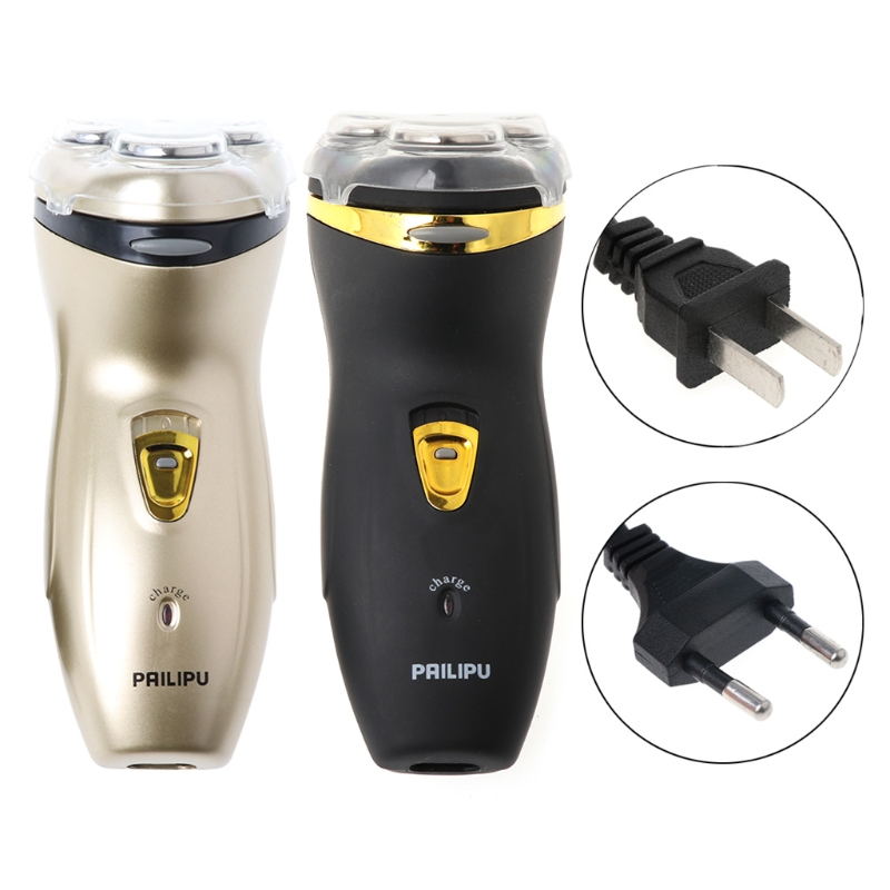 Electric Shaver Beard Razor Men Rechargeable Washable Cordless 3D Triple Rotary cartoon wood