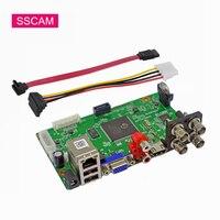 Mini 4CH 1080N AHD DVR Board AHD N Hybrid 1080P NVR Digital Video Recorder Module For 720P 1080P AHD/TVI/CVI/Analog/IP Camera