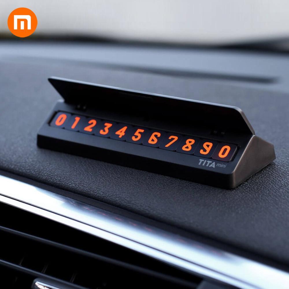 HOT Original Xiaomi Mijia Tita Temporary Stop Sign Car Parking Card Number Multinational Phone Numbers Auto Accessories