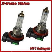 Бесплатная доставка X-treme Видение H11 + 100% Ярче Ксеноновые Фары Автомобиля Лампа Галогенная Свет Комплект 12 В 55 Вт AAA