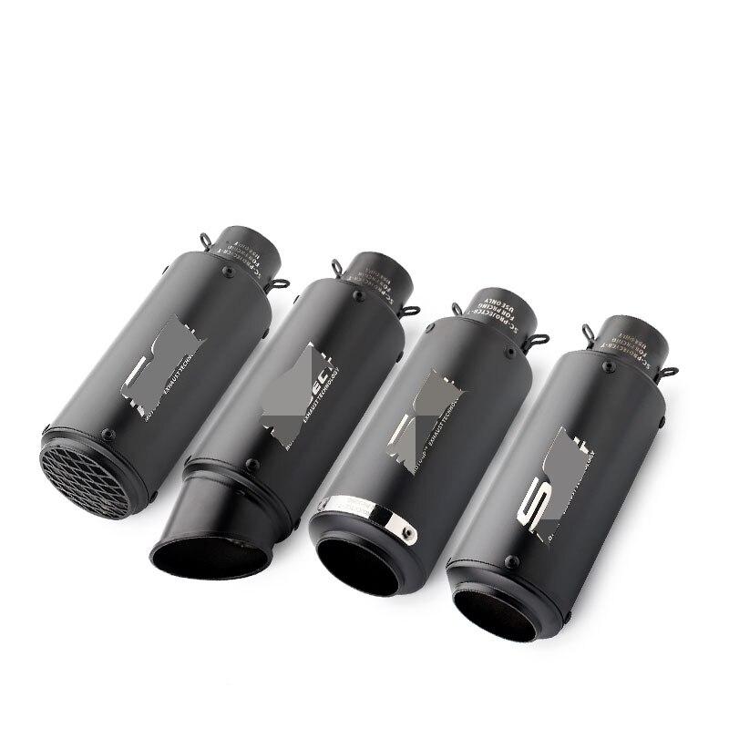 Universal 51/61mm moto ciclo tubo de escape escape moto com DB assassino para s1000rr z1000 CB1000r gsxr650 R1ktm exc k6 k7 ATV
