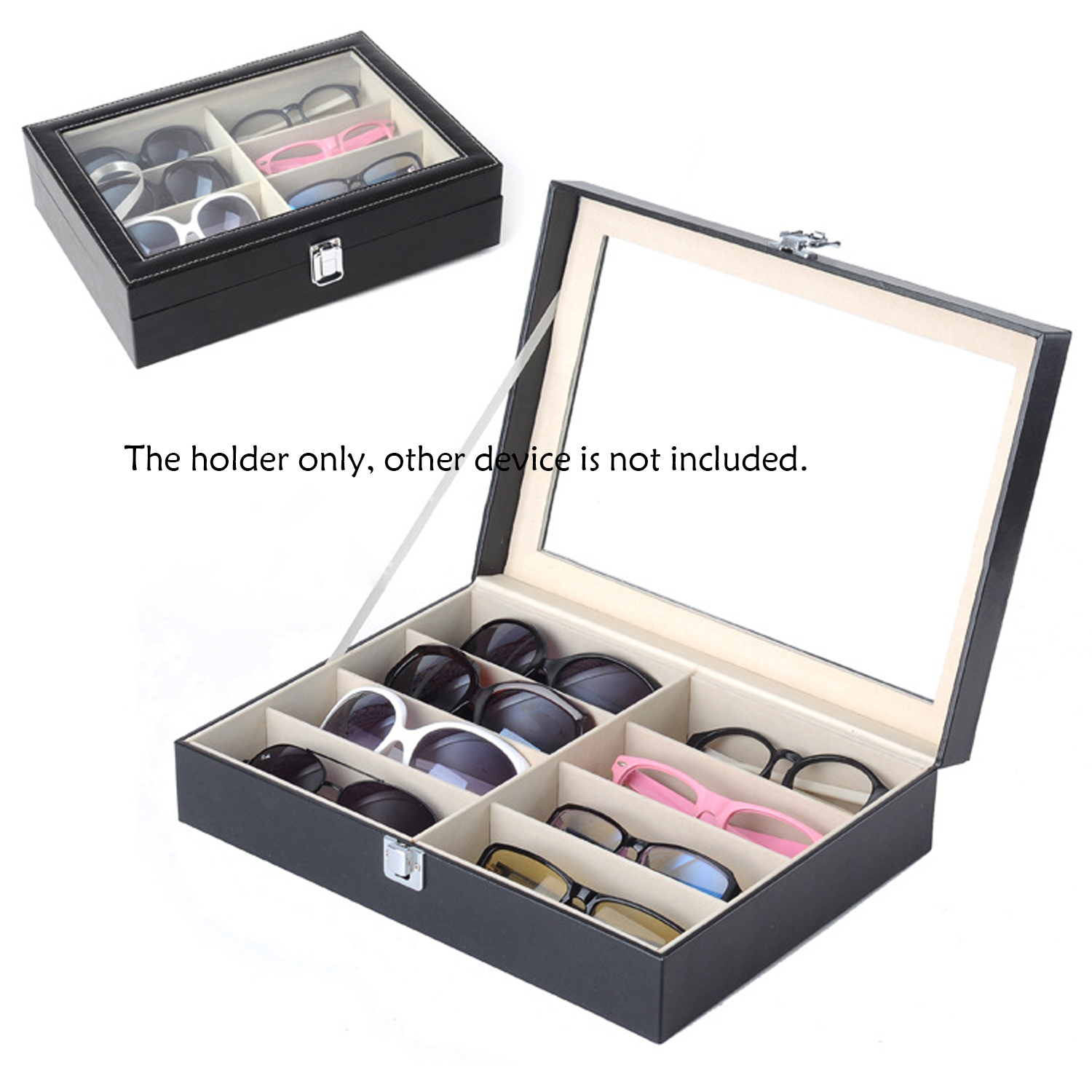 f47d2e3fcc 8 Slots Sunglasses Glasses PVC Case Cover Eyewear Drawer Box Collector Eye Glasses  Display Holder Storage