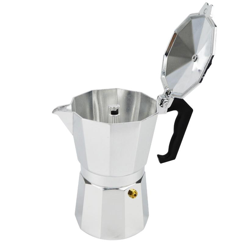 New Espresso Coffee Pots 3 6 12 Cups Maker Moka Espresso Cup Aluminum Moka Pot