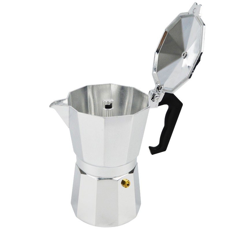 New Espresso Coffee Pots 3/6/9/12 Cups Maker Moka Espresso Cup Aluminum Moka Pot Machine Outdoor Three-chambered