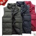 hot sale 2013 new winter sleeveless men outerwear jacket stand collar duck down vest waistcoat polyester vest L-XXXXXL D2190