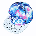Populares del snapback hueso gorra de béisbol sombrero de hip-hop casquillos ajustables hombres mujeres moda galaxy star patrón sombrero plano la visera mexo1