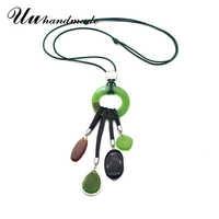 Colares de couro cadeia de borla colar de pingente pingente gota geométrica 2018 do vintage da moda jóias gargantilhas para as mulheres