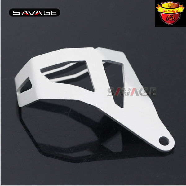 For BMW R1200GS LC 2013-2016/ R1200GS LC Adventure 14-16 Motorcycle Aluminum Rear Brake Fluid Reservoir Guard Cover Protector motorcycle rear fender wheel hugger mudguard splash guard for bmw r1200gs lc adventure 2013 2016 15 14 black