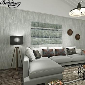 Pengencang beibehang wallpaper Modern sederhana murni pigmen warna abu-abu stripe wallpaper ruang tamu dinding wallpaper papel de parede