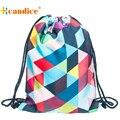 Melhor presente hcandice moda unissex sacos de cordão mochila mochilas impressão 3d emoji bea6106 do navio da gota