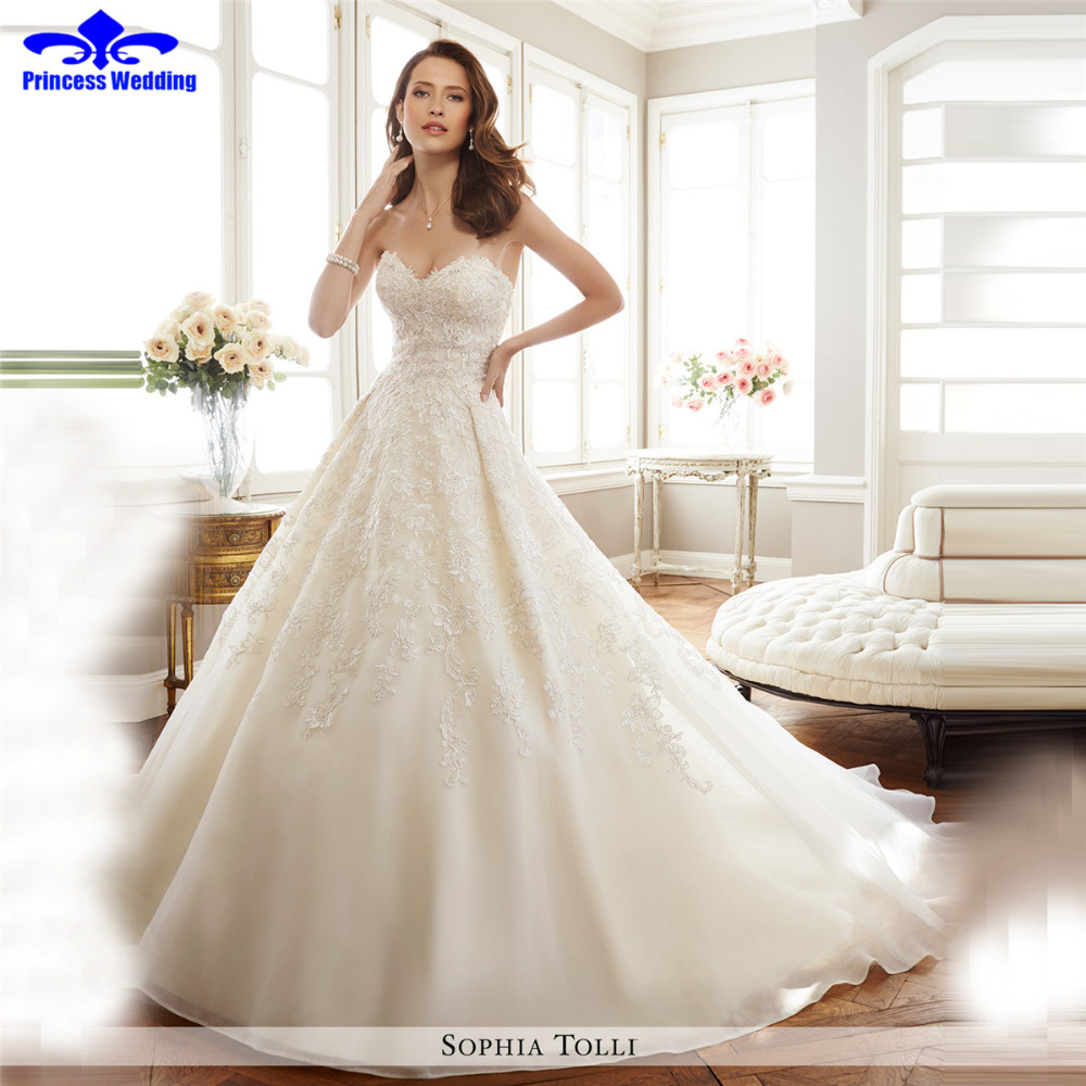 strapless a line sexy sweetheart lace wedding dresses china online store sexy design appliques robe