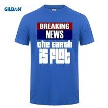ФОТО gildan breaking news the earth is flat flat earth shirt