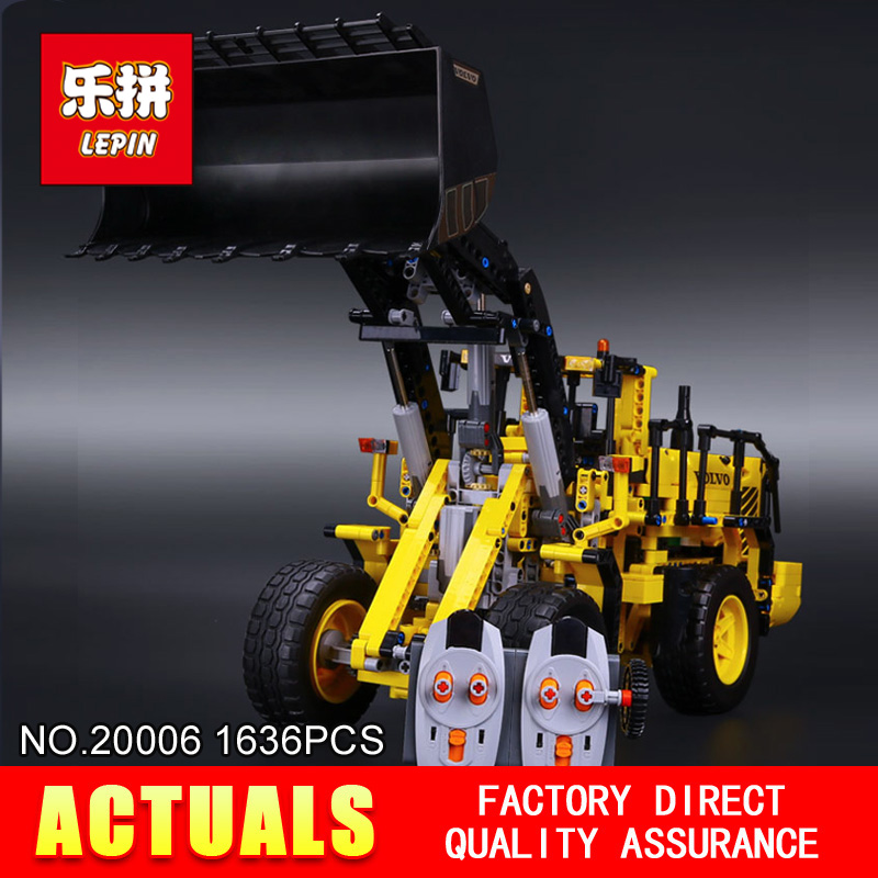NEW LEPIN 20006 Technic series 1636pcs Volvo L350F wheel loader Model Building blocks Bricks Compatible 42030 boy gift car Toys lepin 20006 technic series volvo l350f wheel loader model building kit blocks bricks compatible with toy 42030