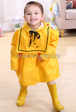 Korean Style burberry kids Raincoat Yellow Red Princess Dress Rainwear Children Rain Coat Solid Color Poncho