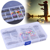 Sea Fishing Rig Set Rigs Beads Swivels Crimps Barless Hooks With Tackle Box