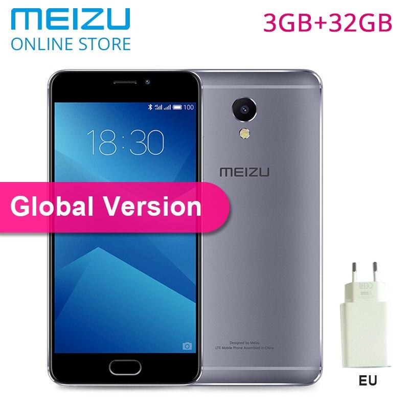 """Оригинальный Meizu M5 note 3 ГБ 32 ГБ Глобальный Версия 4G мобильный телефон стандарта LTE на ОС Android Helio P10 Octa Core 5,5 """"13MP отпечатков пальцев 4000 мАч"""