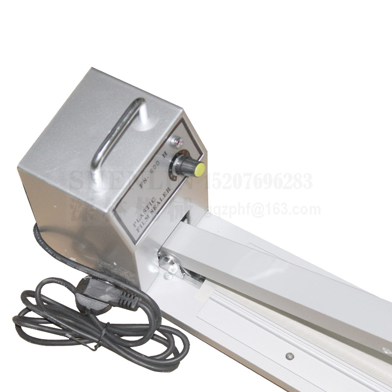 Tools : Hand Impluse Sealer 600MM Sealing Length Heat Sealing Bag Machine manual sealing machine enlarge sealer SF600 110V 220V 60 50HZ