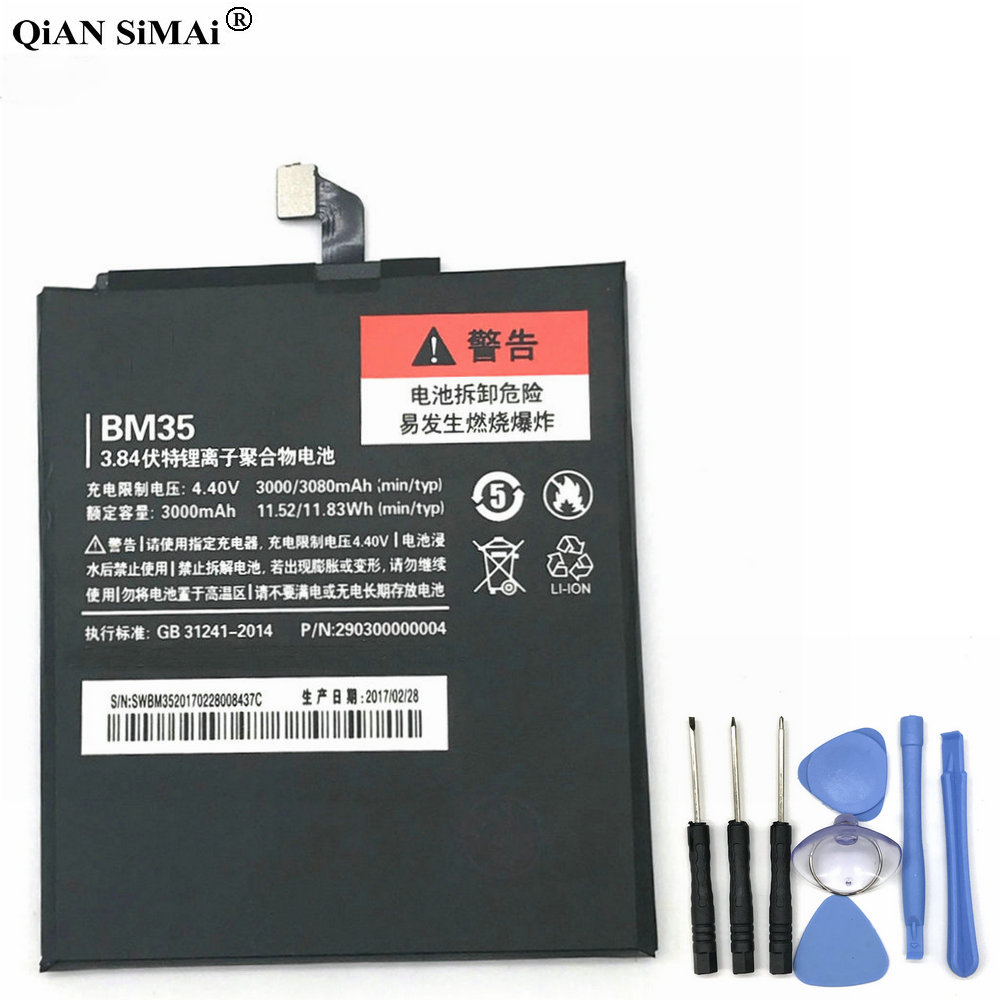 New High Quality BM35 3000mAh battery with tools For Xiaomi 4C MI4C phone
