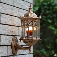 E27 유럽 야외 방수 벽 램프 초 롱 정원 조명 조명 정원 램프