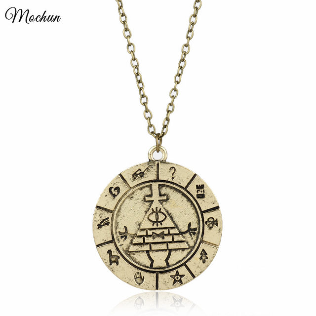Online shop mqchun 2 colors gravity falls bill cipher zodiac pendant mqchun 2 colors gravity falls bill cipher zodiac pendant necklace vintage reto wheel dipper chain necklace for men women gift mozeypictures Gallery