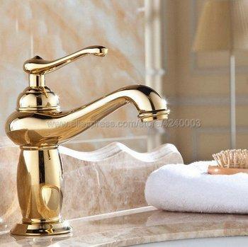 Bathroom Faucet Golden Brass Basin Faucet. Bathroom Mixer Tap Deck Mounted basin sink Mixer Tap Kgf043 kemaidi special white painting bathroom sinks tap deck mounted single handle mixer basin tap solid brass bathroom sink faucet