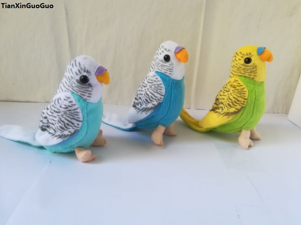 цены high quality goods small cute parrot about 12cm plush toy simulation parrot soft doll baby toy gift d0896