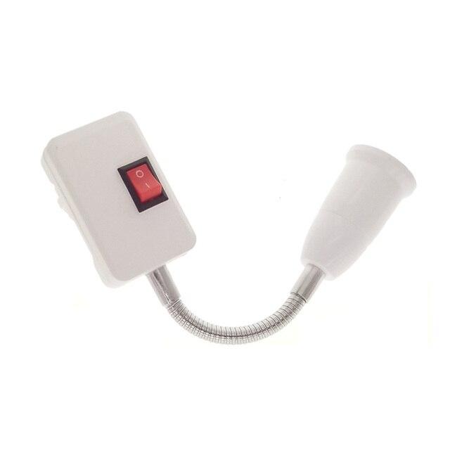 Newest  E27 Flexible Extend Extension LED Light Bulb Lamp Base Holder Screw Socket Adapter Converter EU Plug 10CM 30CM 50CM