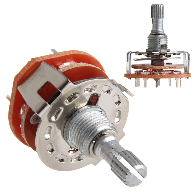 Active Components 2pcs/lot Rs25 Band Switch 2p4t 2p5t 2p6t 3p3t 3p4t Mount Rotary Switch Selector Band 2 Pole 5 Position Knob Switch Band Switches Exquisite Craftsmanship;