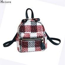 New Mini Plaid Backpack School Bag For Women Backpacks for Teenage Girls  Preppy Style Shoulder Bags 9d38ec0bd5ddc