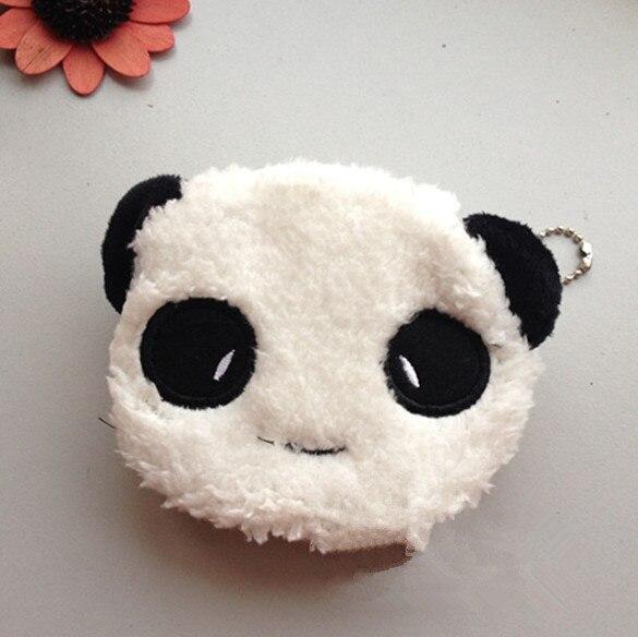 Novo Fofo Saco de Moeda, Panda De Pelúcia 10 CM Lady Coin Purse & Carteira Bolsa Case BAG, pequeno Chaveiro de Pelúcia bolsa de Moedas