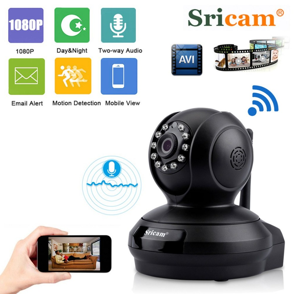 Sricam SP019 1080P HD WiFi Surveillance Camera Baby Monitor Night Vision Motion Detection IP Security Camera P2P TF CardSricam SP019 1080P HD WiFi Surveillance Camera Baby Monitor Night Vision Motion Detection IP Security Camera P2P TF Card