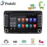 Podofo 2 Din Android 7,1 автомобиль радио gps навигации wi fi автомобильный радиоприемник с Bluetooth Сенсорный экран аудиомагнитолы автомобильные автомобил