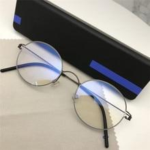 Титановая оправа для очков для мужчин безвинтовое бизнес Ретро близорукость Круглый корейский очки женщин Оптический Рецепт бренд дизайн