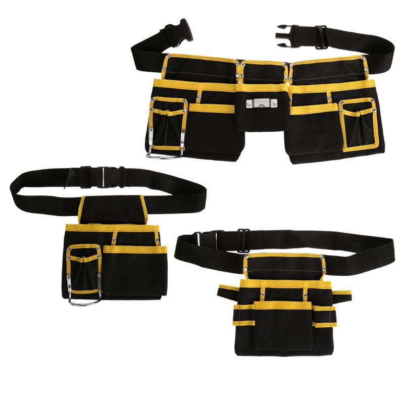 Electrician Tool Bag Waist Pocket Utility Pouch Belt Storage Holder Organizer