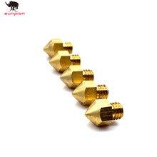 MK7 MK8 Nozzle 0.4mm Copper 3D Printers Parts Extruder Threaded 1.75mm  Filament Head Brass Nozzles 3d printer Part
