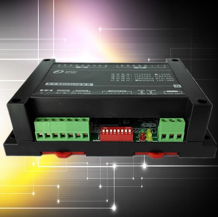 цена на Modbus RTU IO Module 8AI4AO Analog Input Output RTU PLC Extension