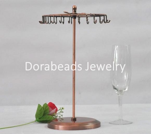8SEASONS Necklace&Bracelet Revolving Round Display Stand 23 Hook (B07675)