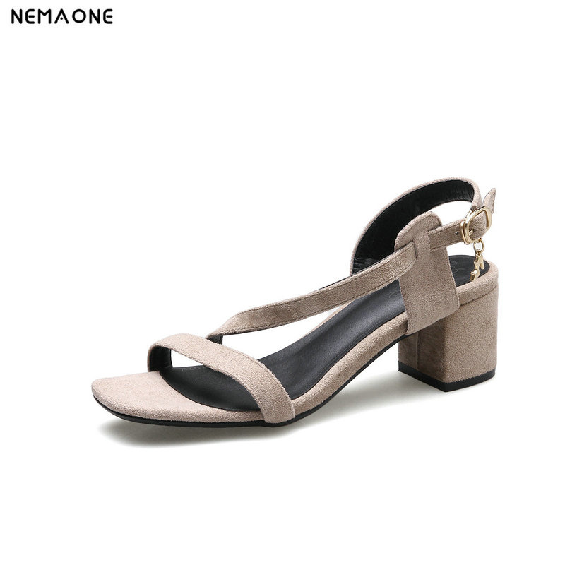 NEMAONE summer sandals sexy women high heels sandals sweetly fashion buckle thick women platform sandals nemaone new sexy high heels sandals