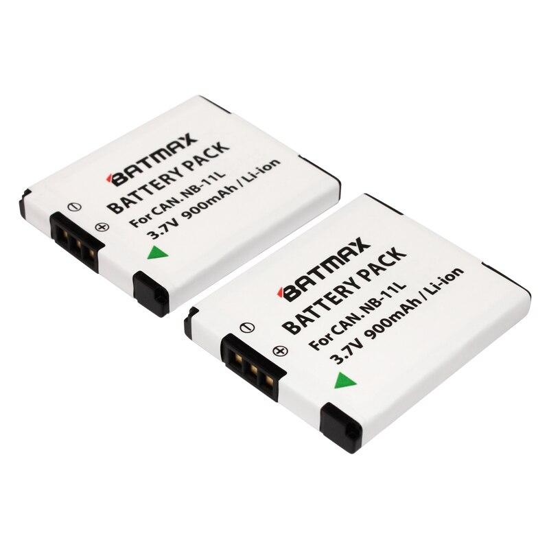 Prix pour Batmax 2 Pcs NB-11L NB 11L NB11L NB-11LH Batterie Pour Canon PowerShot A2300 IS A2400 EST A2500 A2600 A3400 EST A3500 EST ELPH 115 HS