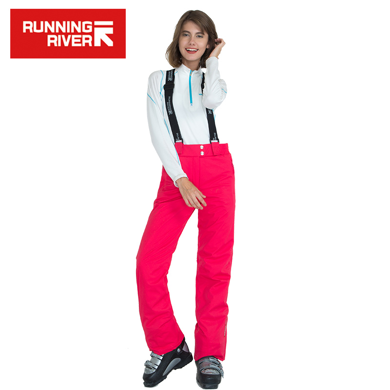 Prix pour RUNNING RIVER Marque Femmes Ski Pantalon Pour L'hiver 7 Couleurs 5 Tailles Chaud Sports de Plein Air Pantalon Haute Qualité D'hiver Pantalon # B6063