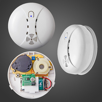 Free Shipping Wireless Smoke Fire Detector For Wireless For Touch Keypad Panel Wifi GSM Home Security