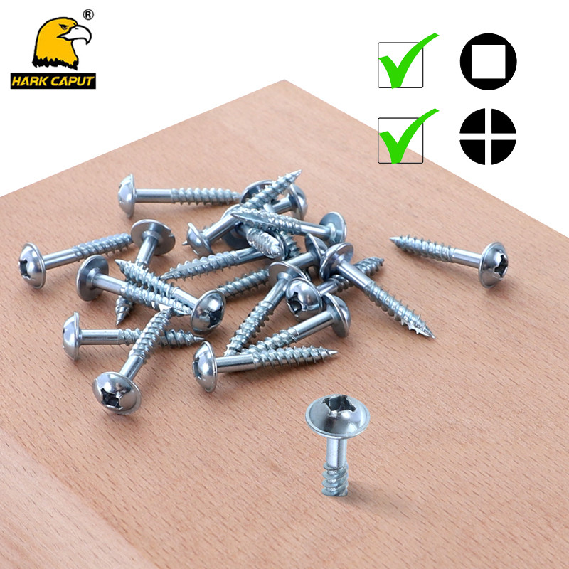 Pocket Hole Screw 4*25mm Self Tapping Screw Fine/Coarse Phillips & Square Washer Head Screw Set For Pocket Hole Jig System