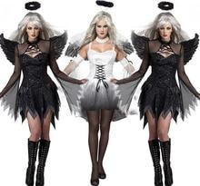 Sexy black angel dark Halloween clothing taste uniform zombie game Female the ghost bride demons