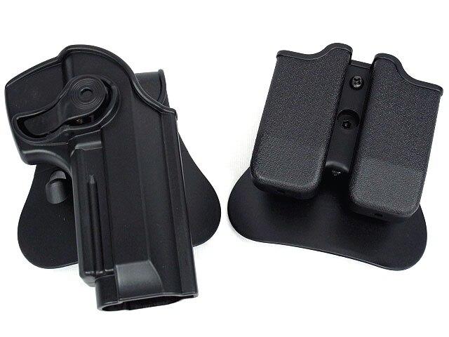 Étui roto pour rétention de polymères DEFENSE et étui à chargeur double Convient aux accessoires pour armes de chasse 92/96 / M9